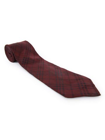 Burberry Burgundy Nova Check Tie