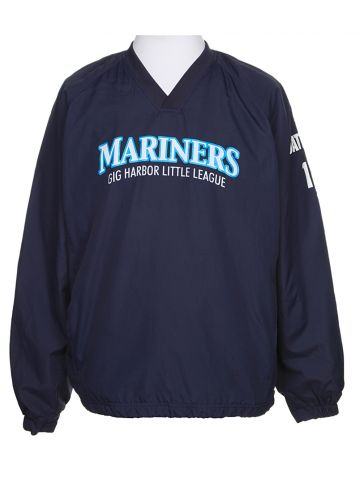 Mariners Little League Navy Zipless Windbreaker - M