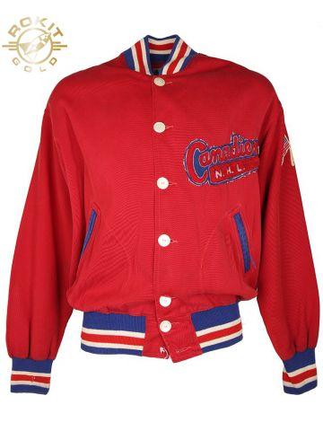 Vintage 50s Cotton Lippmans Canadiens Hockey NHL Jacket - L