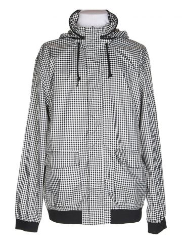 Nike Black & White Checked Anorak Jacket - L