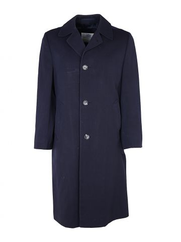 80s Navy Aquascutum Mac Trench Coat - S