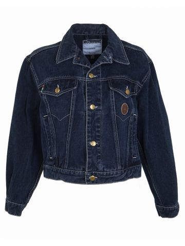 90s Moschino Dark Blue Denim Jacket - M