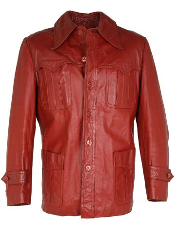 Vintage 70s Tregus Western Leather Jacket - L
