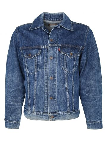 Levis Blue Trucker Jacket with two Chest Pockets - M