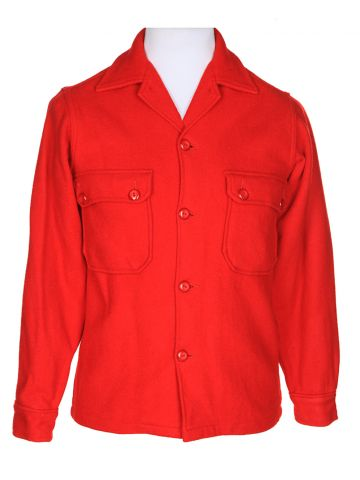 Vintage Red Boy Scout of America Wool CPO Jacket - S