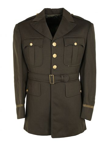 1942 US Army Officer Dress Jacket with Gold Button Detail -  M