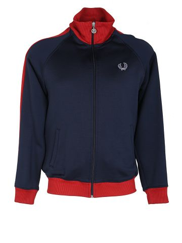 Fred Perry Navy Blue & Red Track Jacket - M
