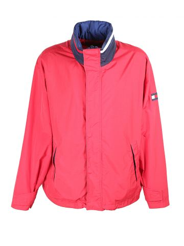 90s Tommy Hilfiger Red & Navy Blue Anorak - XL