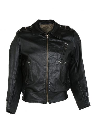 Vintage 60s Leather Biker Jacket - M