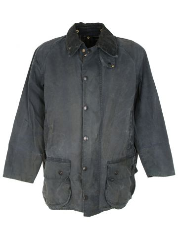 Grey Vintage Barbour Beaufort Wax Jacket - M