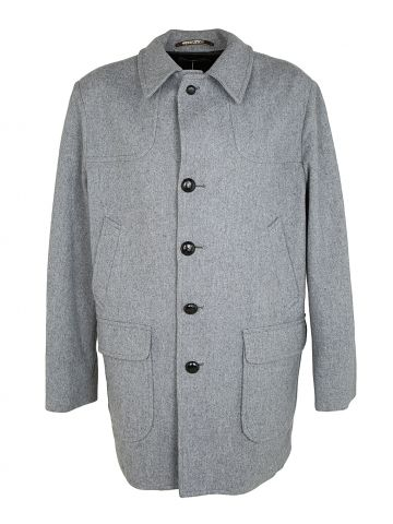 Vintage 50s Grey Wool Pendleton Overcoat - XL