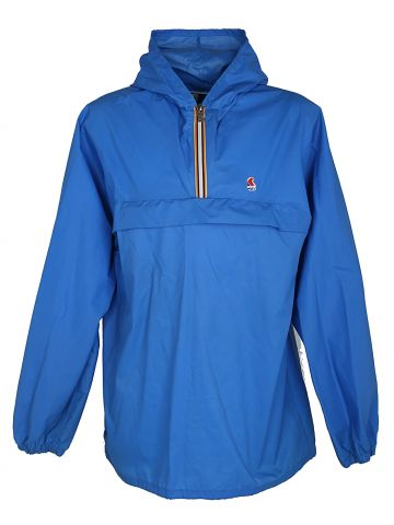 Blue K-Way Packable Windbreaker Cagoule - L