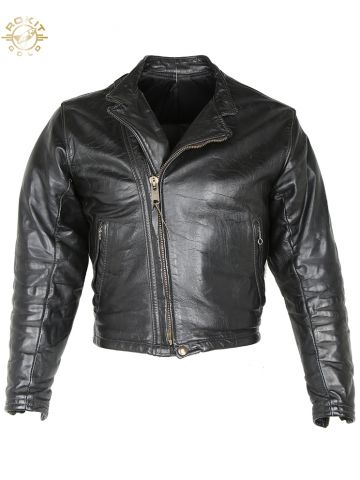 Vintags 60s Custom Made Langlitz Leathers Horsehide Biker Jacket - XS
