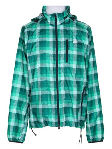 Nike Green Check Waterproof Anorak - L