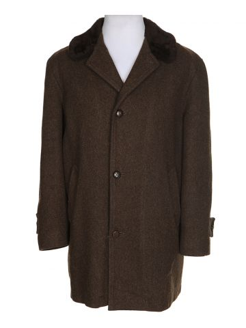 Vintage 1970's Brown Shanhouse Wool Coat - XL