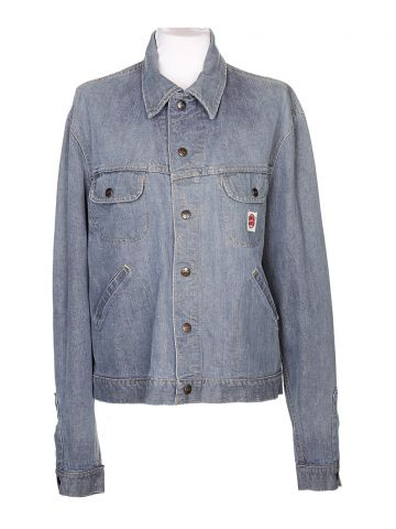 60s Light Blue Denim Jacket - L