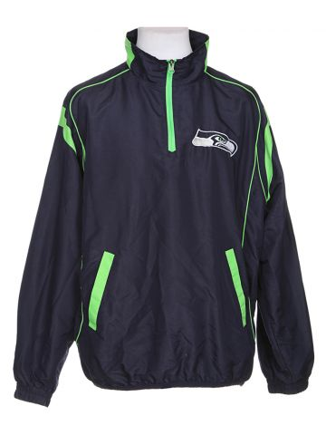 NFL Seattle Seahawks Blue Coach Pullover - XL