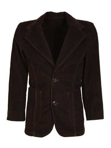 70s New Dimension Sears Dark Brown Fitted Corduroy Blazer Jacket - XS