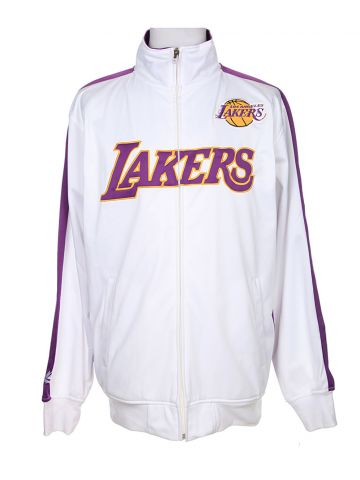 NBA LA Lakers White Track Jacket - L