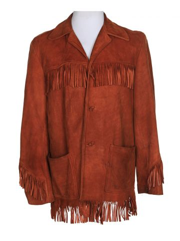 60s Boutique Brown Suede Jacket - L