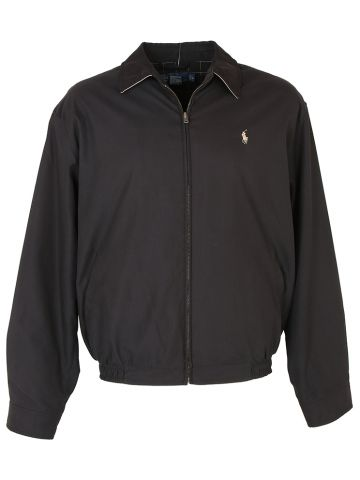 Polo Ralph Lauren Black Harrington Jacket - L