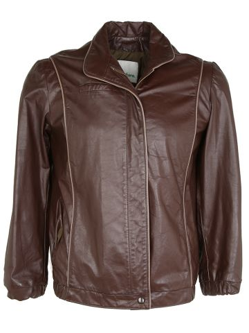 70s Gino Leather Oxblood Jacket - M