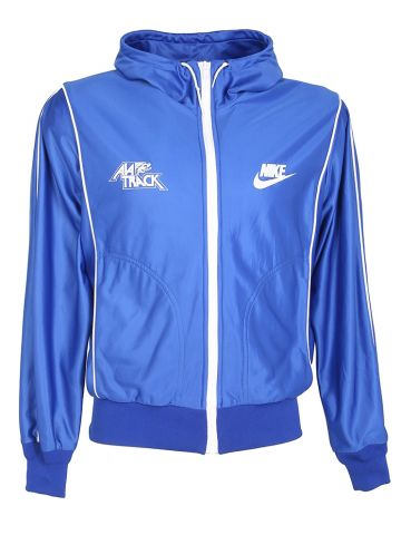 80s Nike Blue Zip-Up Track Jacket - M
