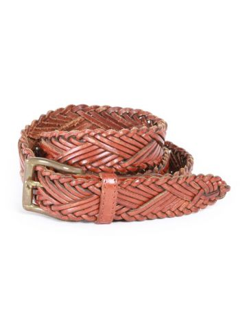 80s Brown Plaited Western Belt