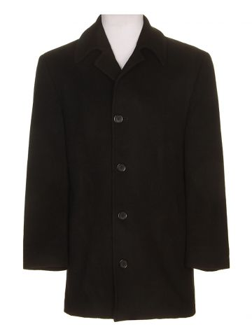 Ralph Lauren Black Cashmere Overcoat - XL