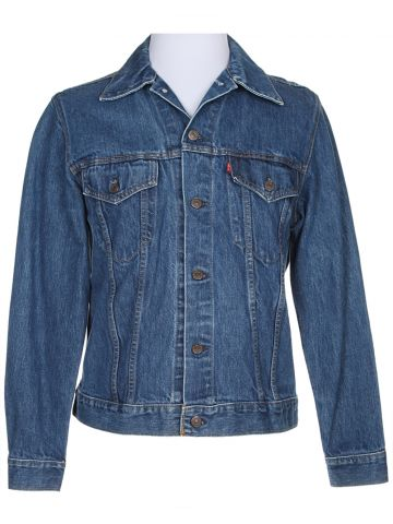 Vintage Levi's Blue Denim Trucker Jacket - M