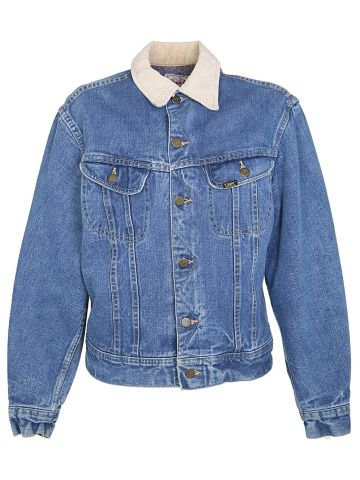 70s Lee Mid Blue Cotton Denim Jacket - M