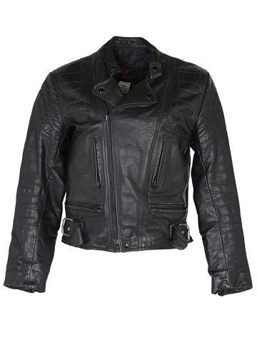 Vintage 80's Leather Bristol Cafe Racer Style Biker Jacket - L