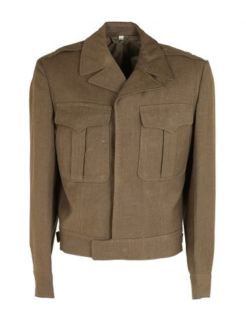 40s WW2 Green Military IKE Jacket - L