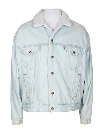 80s Levi's Blue Denim Jacket - XL