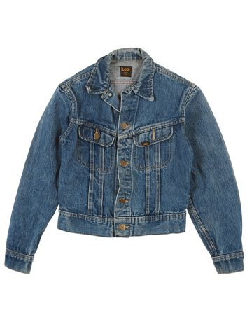 80's Lee Blue Denim Jacket - XS