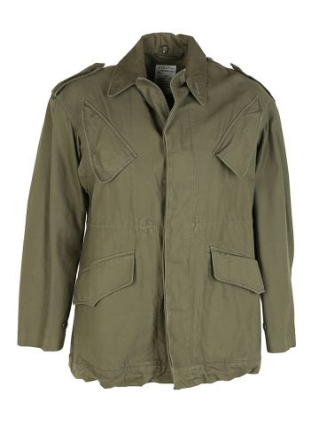 80s Belgian Army Khaki Green Field Jacket - L