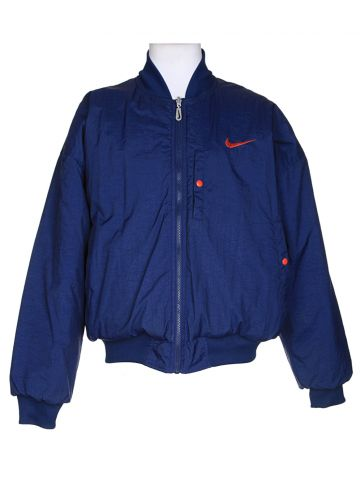 90's Nike Blue Bomber Jacket - XL