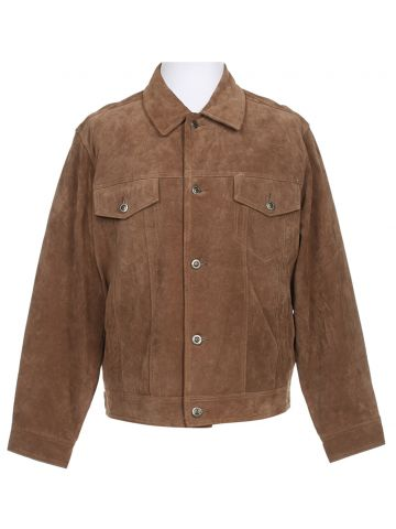 80s Pendleton Tan Suede Jacket - XL