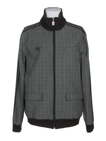 Adidas Grey Prince of Wales Check Track Jacket - L