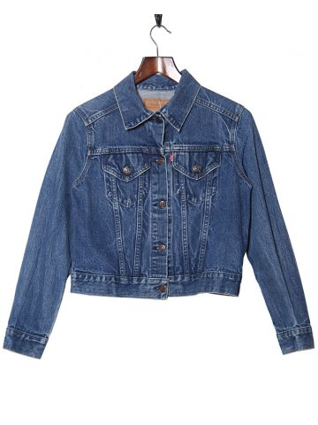 70s 80s Levi's Blue Denim Jacket - S