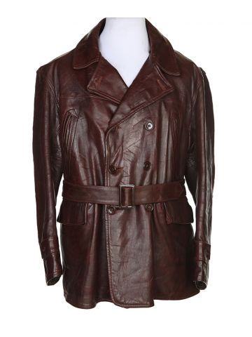 40s Vintage Brown Boutique Leather Flight Jacket – XXL