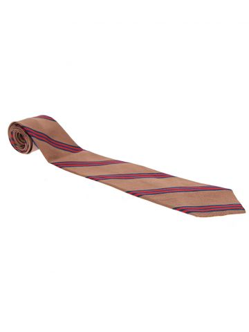 Liberty Brown Striped Silk Tie