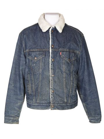 Vintage Levi's Sherpa Denim Fleece Jacket - M