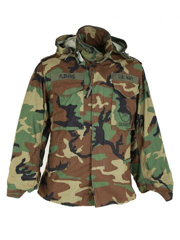US Navy Camouflage Military Field Jacket - S