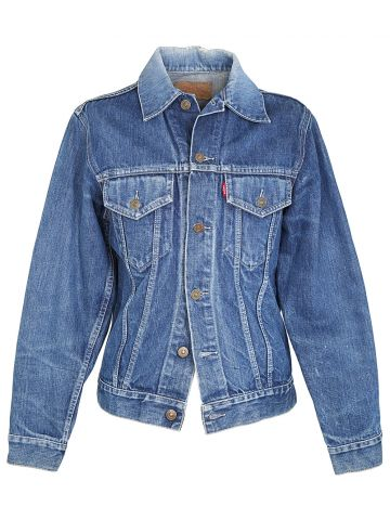 Vintage 1960s Levi's Big E Blue Denim Trucker Jacket - XS