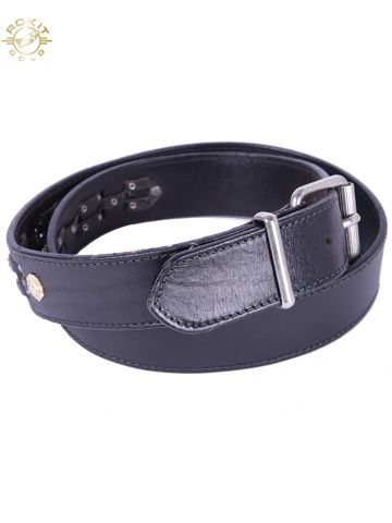Gianni Versace Versus Black Woven & Studded Lion Belt - W38 - 42