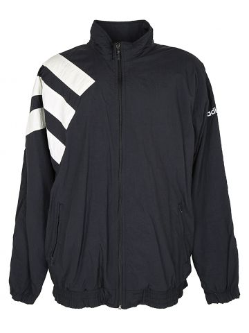 90s Black and White Adidas Shell Jacket - L