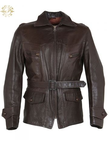 40s American Sportswear Co. Brown Leather Sports Jacket - 38?