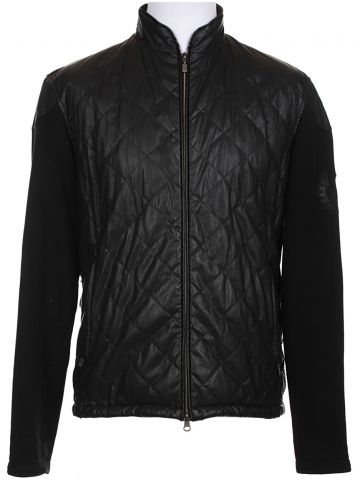 Belstaff Black Faux Leather Quilted Jacket - XL