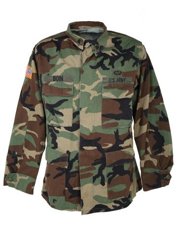 Woodland Camo US Army Shirt - L